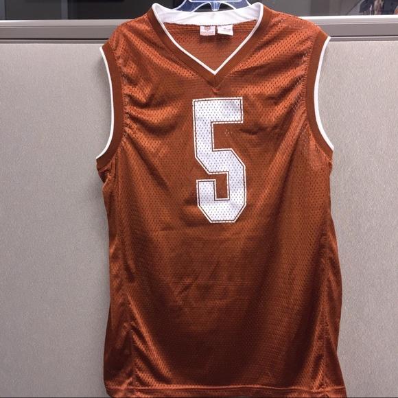 super popular f06c6 10204 Texas Longhorns Basketball Jersey Size XL